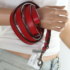 NWT Coach Leather Small Dog Animal Pet Leash Lead Red 65288 New RARE