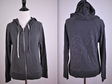 NWT Victoria's Secret Lightweight Angel Wing Hoodie Gray Women's Small S [t98]