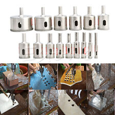 15pcs Diamond tool drill bit hole saw set for glass ceramic marble 6mm-50mm