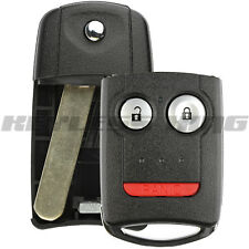 New Replacement Keyless Entry Remote Flip Car Key Fob Shell Case for Acura 3b