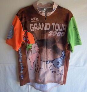 """VOLER - Men's Multi-Color """"L.A. Wheelmen"""" Cycle Jersey -- SIZE L"""