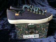 Keds x Rifle Paper Co Navy colored shoes with Embroidered details Womens Sz 7