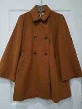 Womens ZARA Wool Coat In Camel Beige Sz S