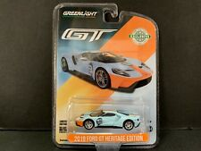 Greenlight Ford Gt 2019 Heritage Gulf Livery Style 29909 1/64