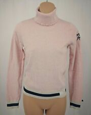 ODD MOLLY Anthro Women's Turtleneck Sweater Pink Gray Cream Size 0 Long Sleeves