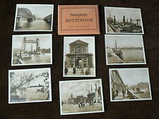 Vintage 8 x Small Real Photograph Snapshots in Folder, Rotterdam, Netherlands,