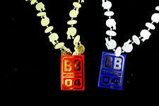 Bud Bowl 2004 Bud Light Vs Budwiser Fantasy Football Bling Costume Necklace Bead