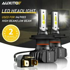 AUXITO H4 9003 LED Headlight Kit Hi Low Beam Bulbs 18000LM FANLESS HID WHITE B7