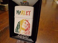 BOB MARLEY WHITE MATTE ZIPPO LIGHTER MINT IN BOX 2016