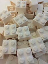 Lego 2 X 2 White New Bulk Lot Of 25 2x2 White  Brick Blocks 2 X 2