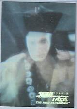 Star Trek TNG Seasons 6 Hologram Chase Card H12 **** Q **** Skybox 1996