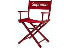 Brand New Red Supreme Directors Chair SS19