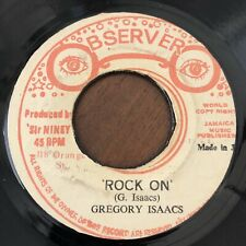 GREGORY ISAACS - ROCK ON - OBSERVER  rare roots  LISTEN