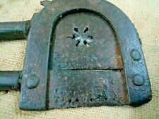 Antique Old Hand Carved MUGAL Iron Betel Nut Cutter / Sarota Rich Patina