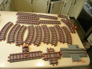Vintage 1988 Playskool Express Train Track Lot Of 19 - Curve Straight Switch