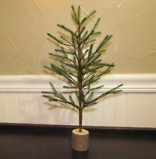 "Primitive Antique Vtg Style 16"" Faux German Feather Artificial Christmas Tree"