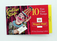 BOOKLET OF 10 ROYAL MAIL 1st CLASS GREETINGS STAMPS PLUS 20 LABELS, 1995, UNUSED