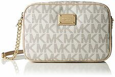 475344dbddc7 Michael Kors 32S4GJSC7B Jet Set Large Crossbody Handbag for Women - Vanilla