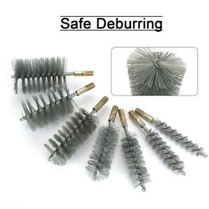 18-75mm Stainless Steel Round Wire Tube Cleaning Brush Rotary Tool Thread M12