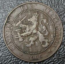 1906 NETHERLANDS - 2 1/2 CENT - BRONZE - Lion - Nice