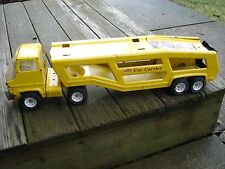 "TONKA CAR CARRIER / HAULER 27"" LONG VINTAGE COLLECTABLE TOY TRUCK & TRAILER"