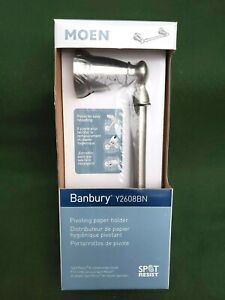MOEN Y2608BN Banbury Pivoting Toilet Paper Holder Brushed Nickel - New in Box