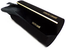 ROBERTO CAVALLI Cylindrical Brown Hard Sunglasses Case & Cloth or Glasses Case