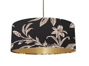 *6 Brushed linings* Laura Ashley llyod Charcoal Biscuit fabric Lampshade