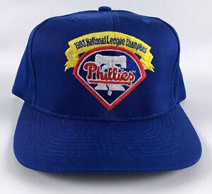 Philadelphia Phillies American Needle Baseball Hat Blue 1993 NL Champion Vintage
