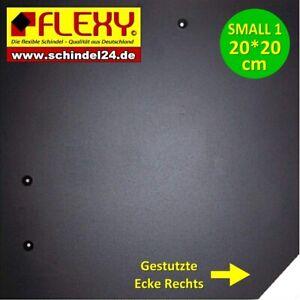250 Stück  Flexy Small 1 Schindeln Rechts schwarz  glatt (Kunststoff)