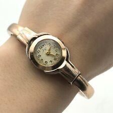 Vintage LUCH Rose Gold Rare Bracelet Ladies Mechanical 1800 TESTED Watch USSR
