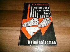 GEORGES SIMENON -- KOMMISSAR MAIGRET und der FAULE DIEB // KiWi 1. Aufl. 1962
