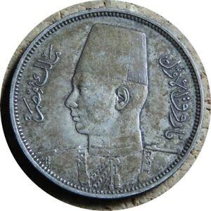 elf Egypt Kingdom 5 Piastres 1939 AH1358 Farouk