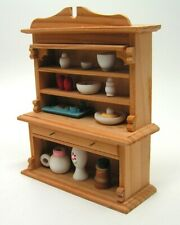 Vintage Miniature Furniture Hutch Wood Rite Aid Doll House Pantry