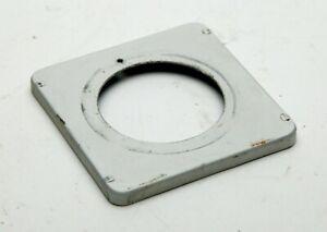 "Graflex 2-1/4x3-1/4"" (6x9cm) Aluminum Lens Board For Copal #0 With Hole 34mm."