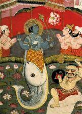Encadrée Imprimer-dieu hindou Lord Vishnu comme Matsya le poisson (religieux photo poster art)