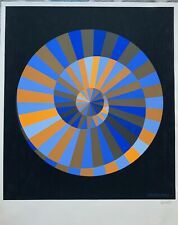 """1972 Olympic Spirale Otl Aicher 39""""X30.5"""" Original plate signed Victor Vasarely"""