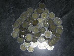 50 x 10 THB  Thailand Bath  Bimetall  Münzen  Hartgeld  ähnlich der 2 Euro