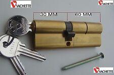 VACHETTE,Cylindre Sécurité,Sureté, 90 mm ,3 Clés,,30-60 mm,Canon,Barillet,Verrou