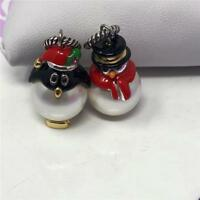 BRIGHTON SET OF 2 CHRISTMAS CHARMS    PENGUIN AND SNOWMAN / FROSTY