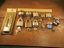 Nice Lot of 14 Working Pad Locks / Cylinder with Keys