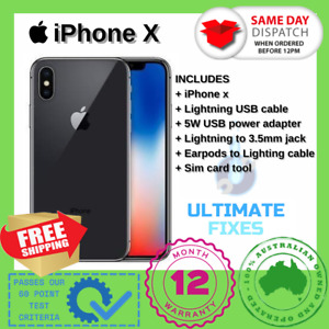 Apple iPhone X 10 64/256GB AS NEW Black/White Unlocked