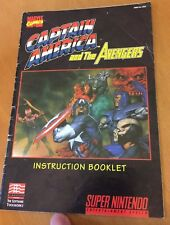 Super Nintendo Captain America And The Avengers Instruction Booklet Only