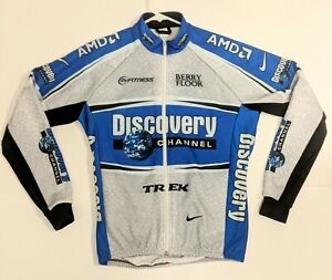 Men's Thermal Winter Cycling Jersey Long Sleeve Fleece Jacket Stretchy Discovery