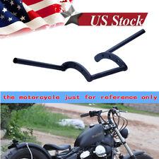 Motorcycle 7/8'' Black Handlebars Z Bar Drag Bars For Yamaha Suzuki Honda Harley