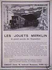 PUBLICITÉ 1937 LES JOUETS MARKLIN ORSAT TRAINS AUTOS AVIONS - ADVERTISING