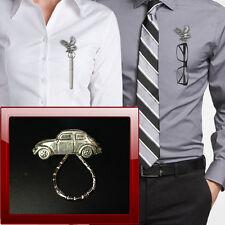 VW Beetle PP-T0 Pewter Pin Brooch Drop Hoop Holder For Glasses,Pen, Jewellery
