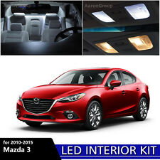 7PCS White Interior LED Light Package kit for 2010 - 2015 Mazda 3 Mazda3