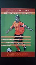 Programme / Programma Holland v Czech Republic 29-03-2003 EURO 2004 Qualifier