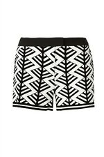 SASS BIDE Flockdraw Looking Glass Loveshady Shorts 8 10 S M